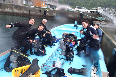 海洋実習とファンダイビング